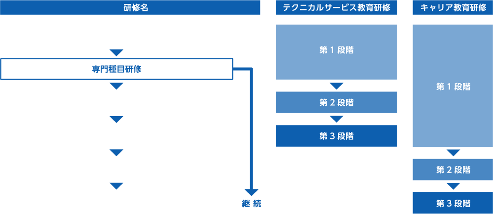 社員の研修システム体系