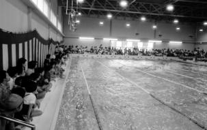 セントラルスイミングクラブ発会式の様子(東京都杉並区のプール)