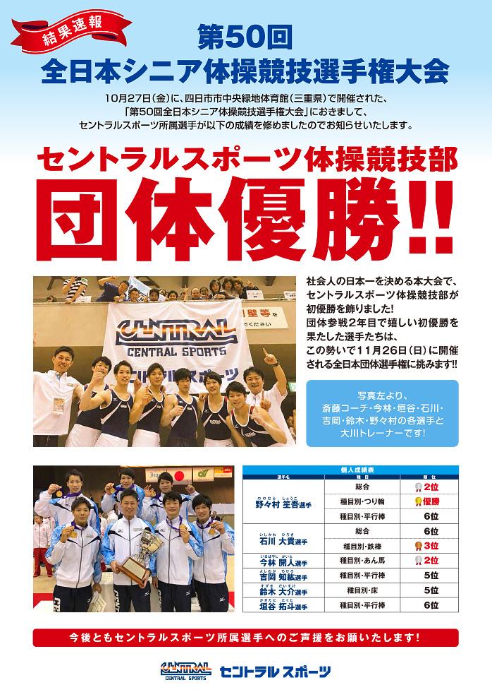 171027全日本シニア体操競技結果